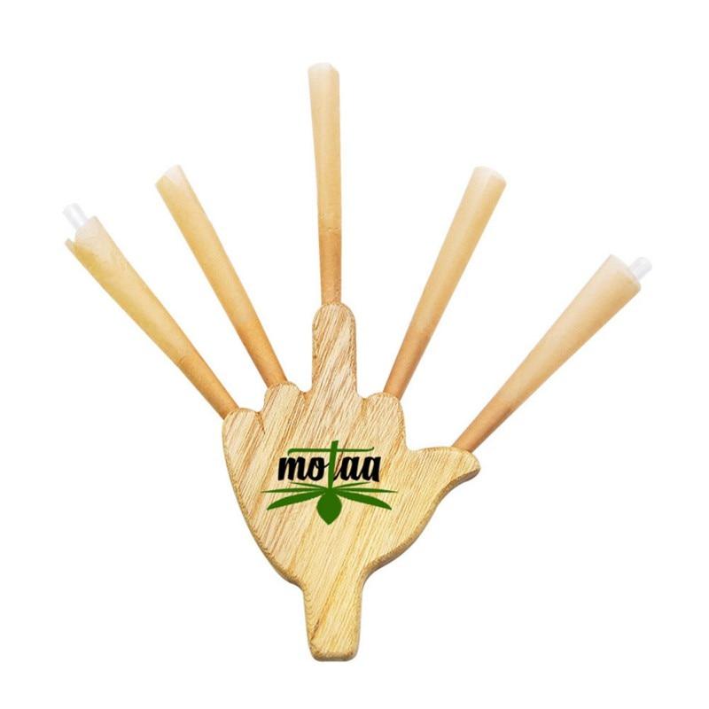 Molinillo pipa de fumar pipa Tripple barril de madera Cig soporte Junta cigarrillo Rolling Cone King papel Palma tabaco fumar pipas