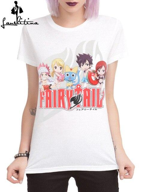 Fairy Tail Group Beach Girls T-Shirt