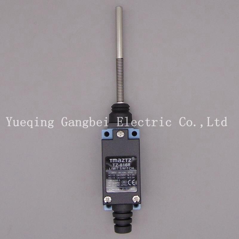 TZ-8168 tmaztz waterproof Limit switch Micro switch tmaztz tz 3102 ip67 4wire roller lever plunger limit switch spdt no nc copper wire 3m