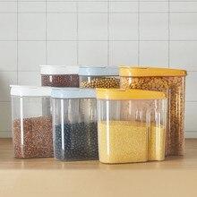 Plastikowy dozownik pudełko do przechowywania es zachowanie kuchnia jedzenie BRĄZOWY RYŻ pojemnik kuchnia ryż pudełko do przechowywania mąki ziarna do przechowywania