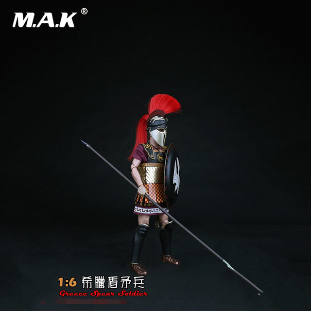 1/6 ZH008 Greece Shield Spearmen Soldier Figure Model Toys Teutonic Knights Medieval Knight Figure Model for Collection