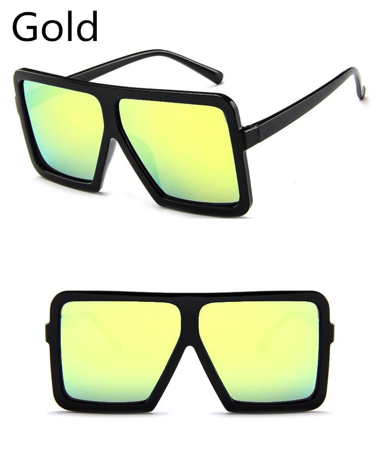 ASUOP2018 large frame new retro ladies sunglasses black radiation fashion men's glasses UV400 international luxury brand square goggles (5)