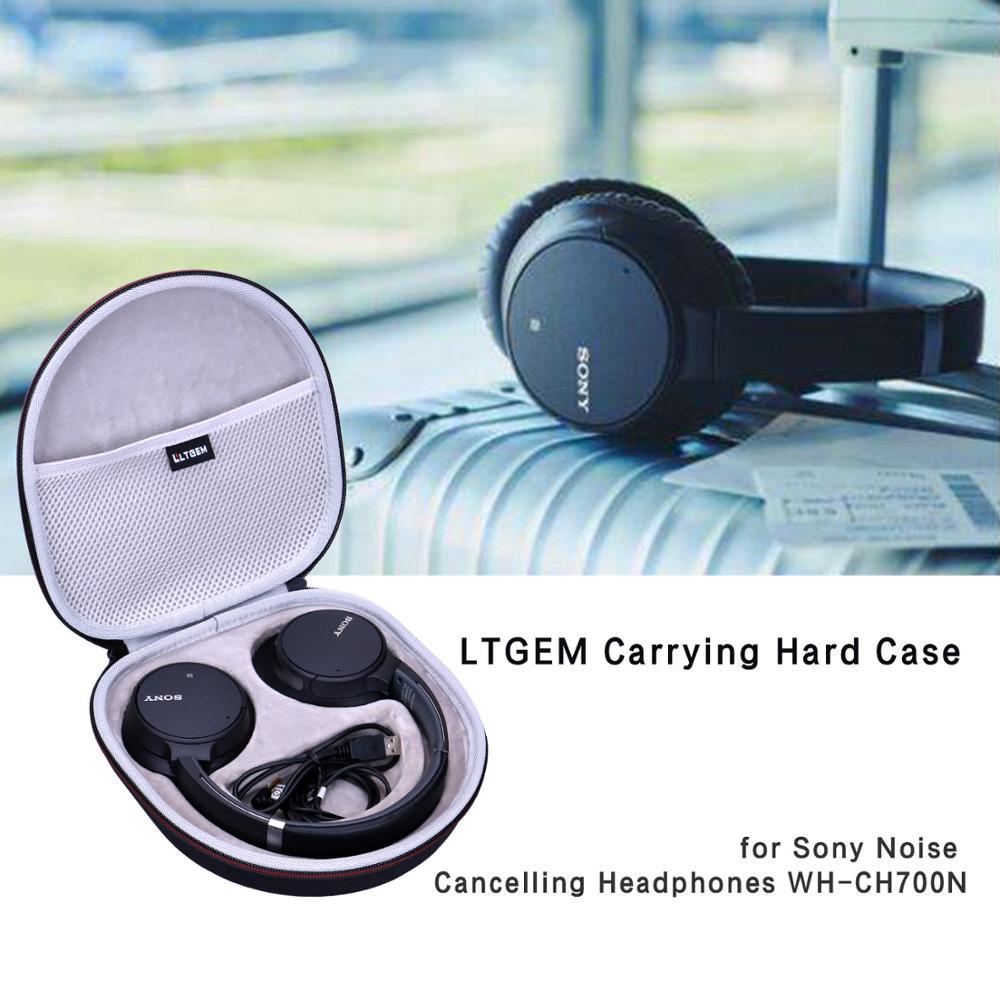 LTGEM EVA Black Carrying Hard Case For Sony Noise Cancelling Headphones WH-CH700N