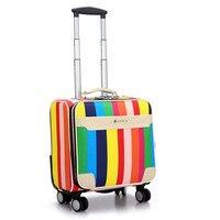 de6390eae New PU Universal Wheel Rolling Luggage Women Men Student Trolley Bag  Suitcases Business Password Box Boarding