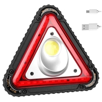 triangular Cob Led Work Light Usb Charging Traffic Warning Light Outdoor Camping Portable Led Flood Searchlight|Outdoor Tools| |  -