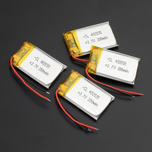 1/2/4 Pieces Polymer Lithium 3.7v 402030 200mAh Rechargeable Battery Replacement Bluetooth Earphone PDA POS Gamepads Batteries
