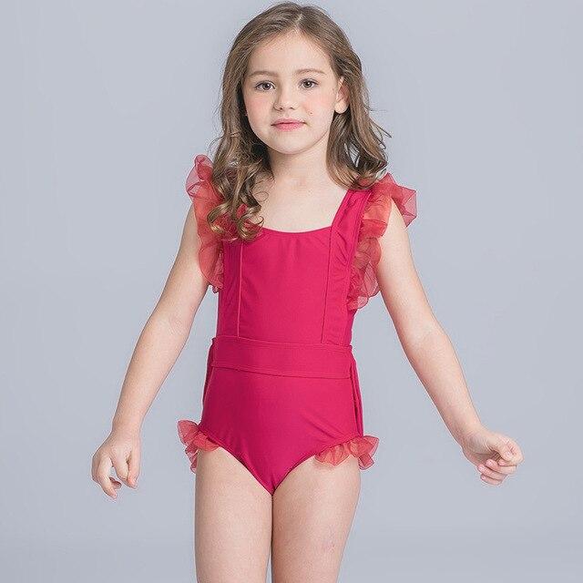 c1a47eda9 cute baby girl swimwear one piece bathing suit girls surfing swimsuits kids  children swimming swim suit badpak jurk child