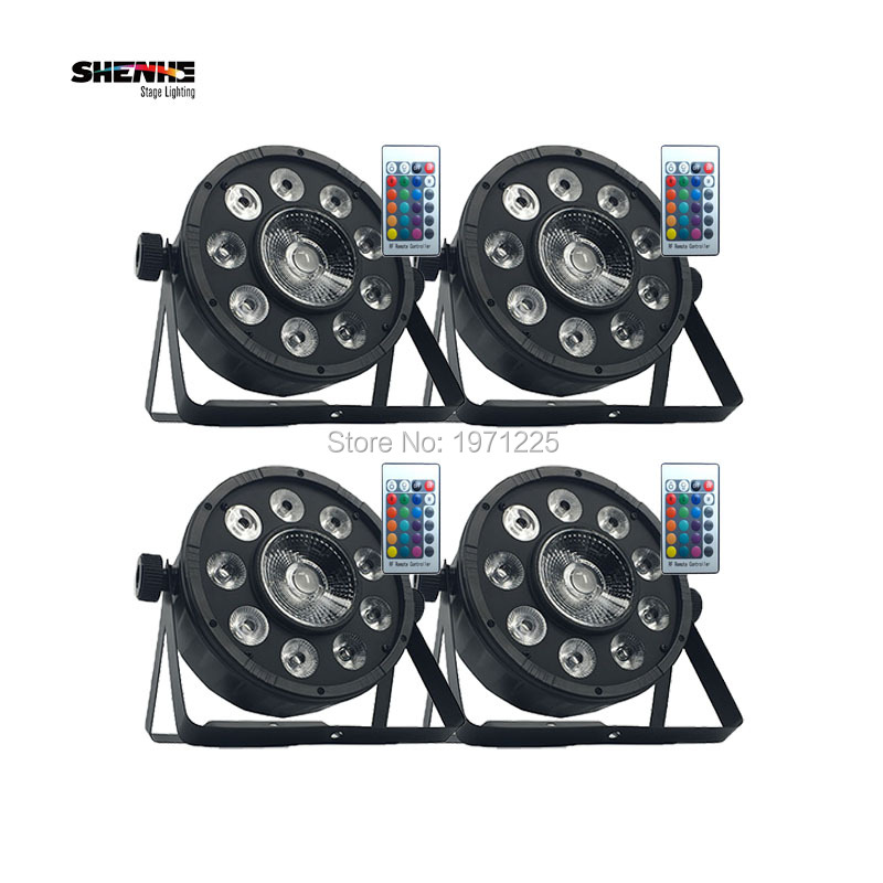 (4pcs) Wireless Remote Control LED Par High Power Supply 9x10W+30W RGB 3IN1 Professional Stage Lighting Fast Shipping