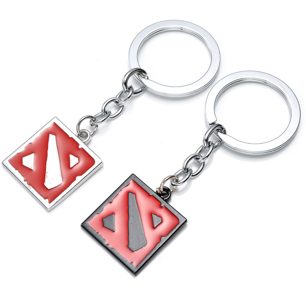Dota 2 logo pendant vintage keychain dota2 key chain for Decor jewelry
