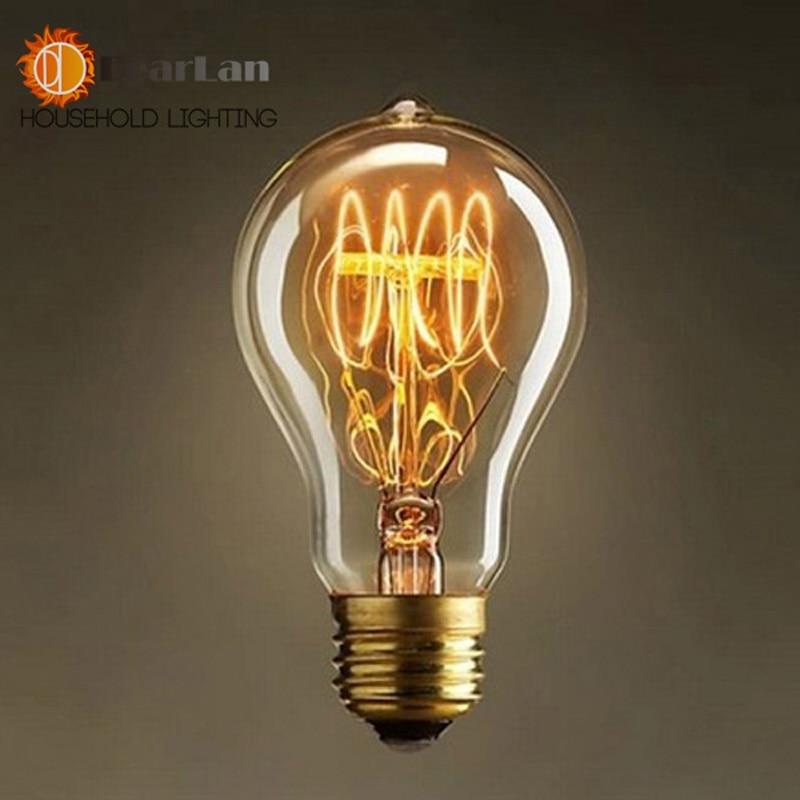 A19 Lovely Bulb E27 Incandescent Vintage Light Bulb,Household/Bar/Coffee  Shop/Hotel /Dress Shop Retro/Classic/ Light Bulb[PD-90]
