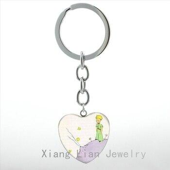 Fashion children's story case for The Little  heart Pendant key chain ring vintage Anime naruto keychain women men HP183