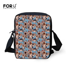 FORUDESIGNS Yorkie Print Children School Bags Boys  Small Me