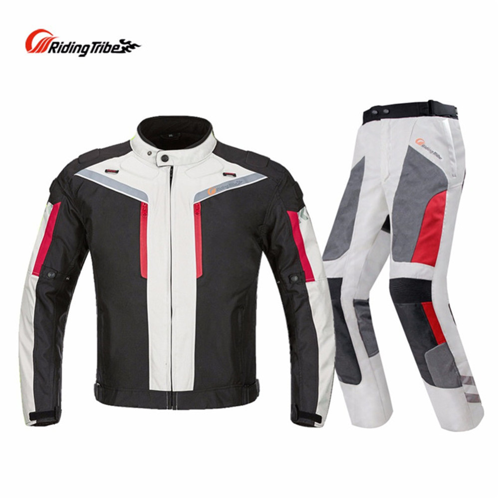 Riding Tribe Motorcycle Suit Jacket Pants Winter Warm
