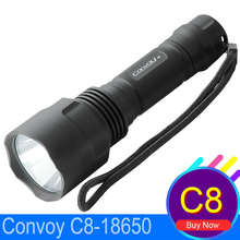 LED Flashlight Waterproof Convoy C8 Cree Blacklight Diving Hunting Torch Battery 18650 Lantern LED Torche Camping