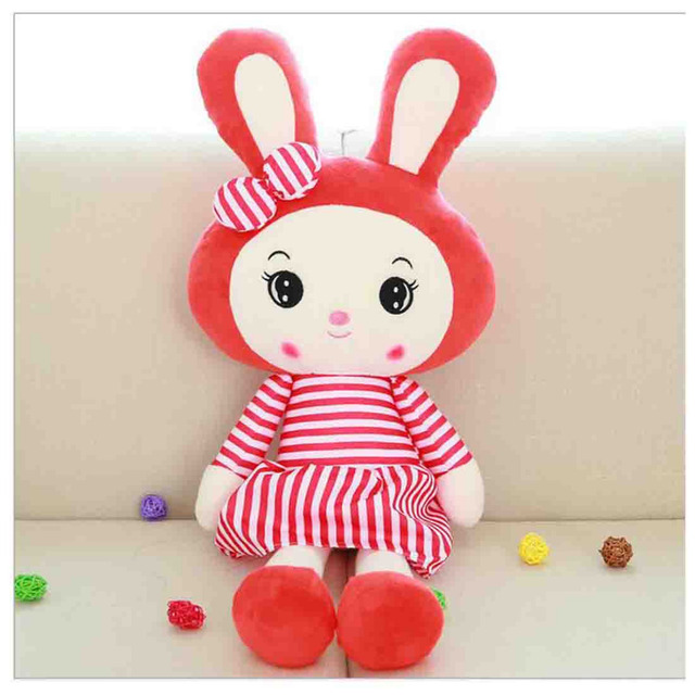 pillow girlfriend pink new year gift striped rabbit plush toy big doll pillow girlfriend on valentines day