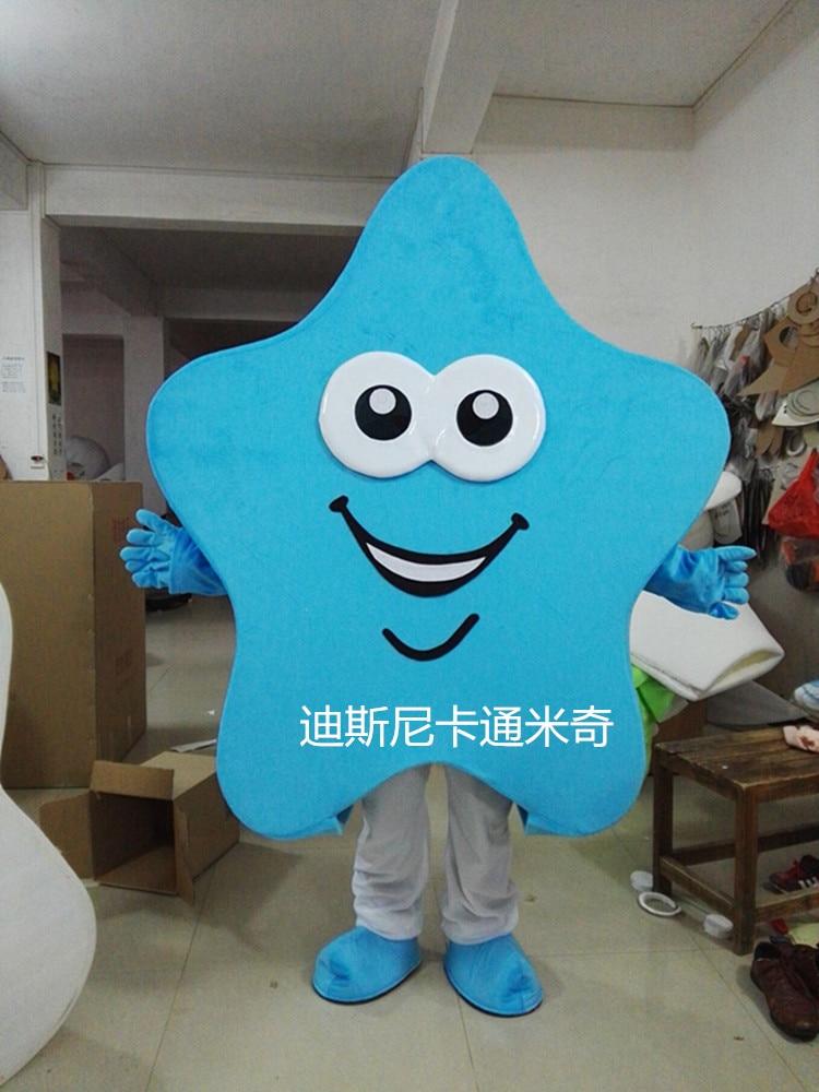 Costume de mascotte de bande dessinée étoile pour adultes tenue de noël Halloween Costume de fantaisie