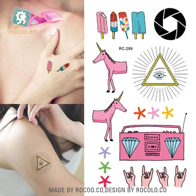 10pcs Tattoo Sleeve Waterproof Temporary Tattoo Stickers Kids Cute Sketch Fake Tatoo Wrist Bare Feet Water Transfer Decals