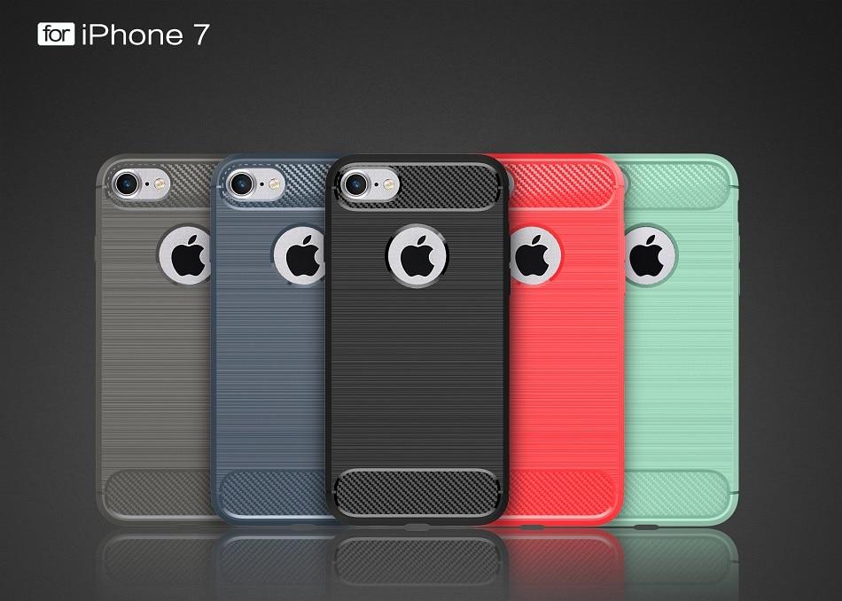Für iPhone 6 Hülle 360 Grad Schutz Kohlefaser Weiche Silikon - Handy-Zubehör und Ersatzteile