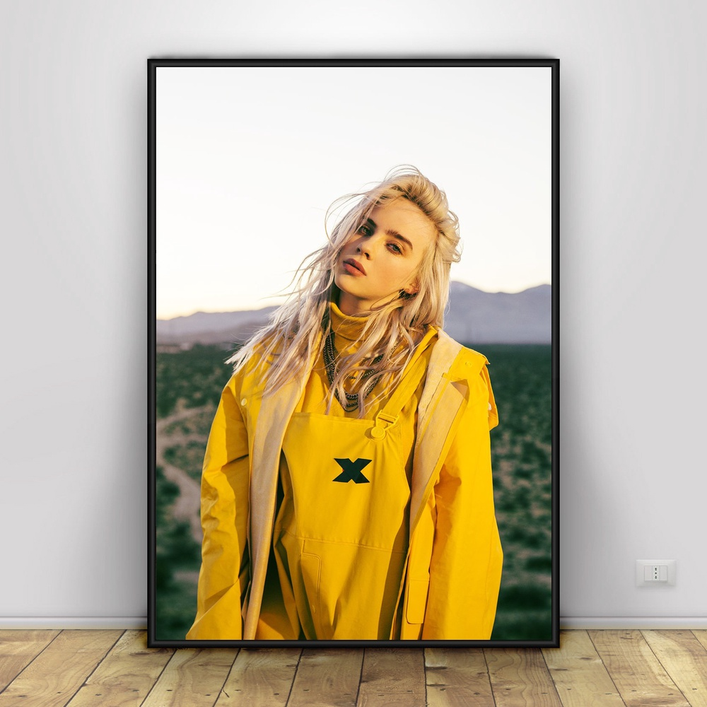 Us 65 Billie Eilish Art Silk Poster Home Decor 12x18 20x30inch In Painting Calligraphy From Home Garden On Aliexpresscom Alibaba Group