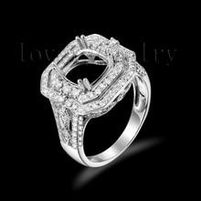 Cushion 8x8mm Full Cut Diamond Semi Mount Ring,Wedding Engagement Ring Setting For Sale WU296