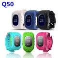 Q50 gps smart kid safe smart watch llamada sos ubicación Localizador Del buscador Del Perseguidor Inteligente Teléfono Q50 Cabrito de Monitoreo de Posicionamiento GPS reloj