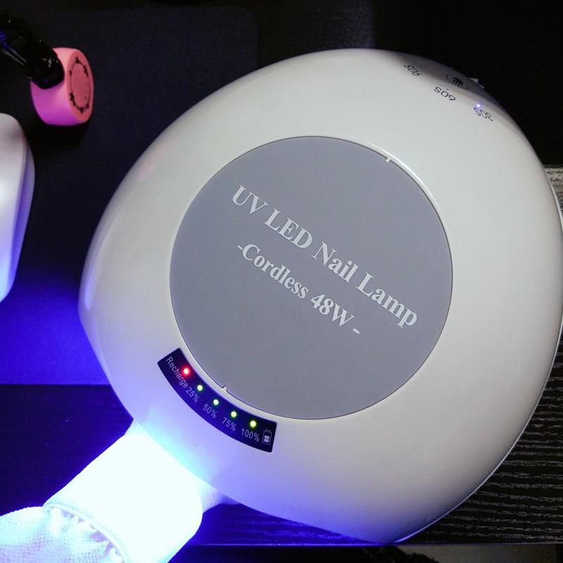 48 Watt Wiederaufladbare Nagel Gel Drahtlose Wiederaufladbare LED UV - Nagel Kunst - Foto 6