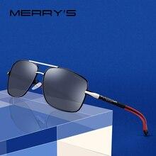 MERRYS ผู้ชายออกแบบแว่นตากันแดด Polarized CLASSIC HD สำหรับขับรถการบินอลูมิเนียมบุรุษ UV400 ป้องกัน S8714