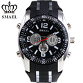 SMAEL Sports Electronic Waterproof Activity Mens 50m Waterproof Watch Dual Display Multifunction Fashional Present For Men 1006B