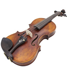 High Quality 4/4 Full Size Handcrafted Solid Wood Acoustic Violin Fiddle with Carrying Case Tuner Shoulder Rest