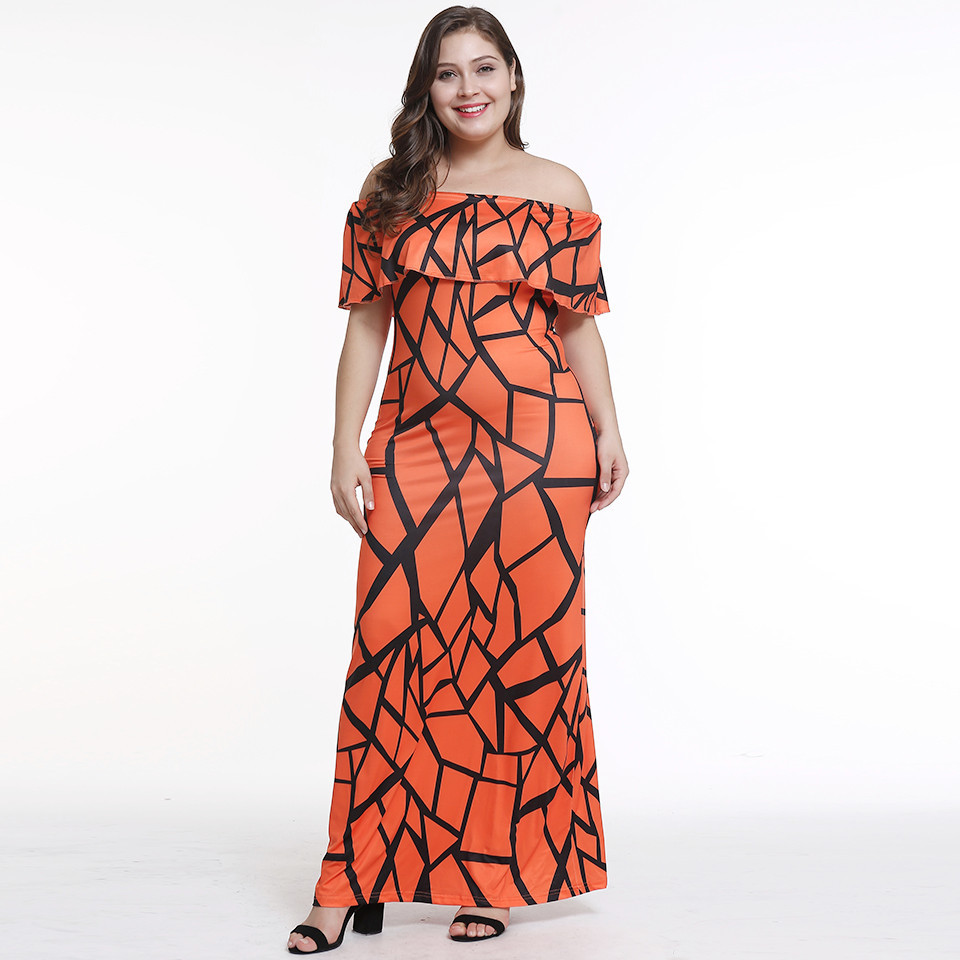 2019 new design off shoulder women sexy strapless dress digital printing lady