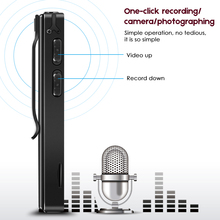 Camera and Video One Click Recording Dictaphone Registrar Handle Noise Reduction Clip Magenetic Design