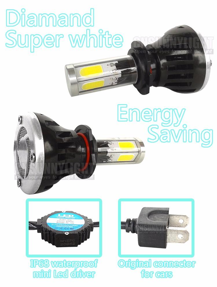 CNSUNNYLIGHT COB LED Headlight Kit H7 H11 H8 9005 HB3 9006 HB4 40W 4000LM Car Head Lamp Fog Light Replacement Bulb Play and Plug (15)