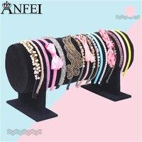 12 30 Lint Fleece Feeling Hairband Hairtie Organizer Shelf Frame Jewelry Holder Display Haircuff Headband