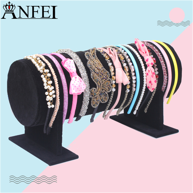 Black Hairband Stand Headband Holder Jewelry Accessory Display