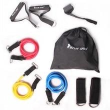 Fitness stretch accessori per forza allenamento di resistenza leggero classe 9 set di accessori per il commercio all'ingrosso ed il trasporto libero