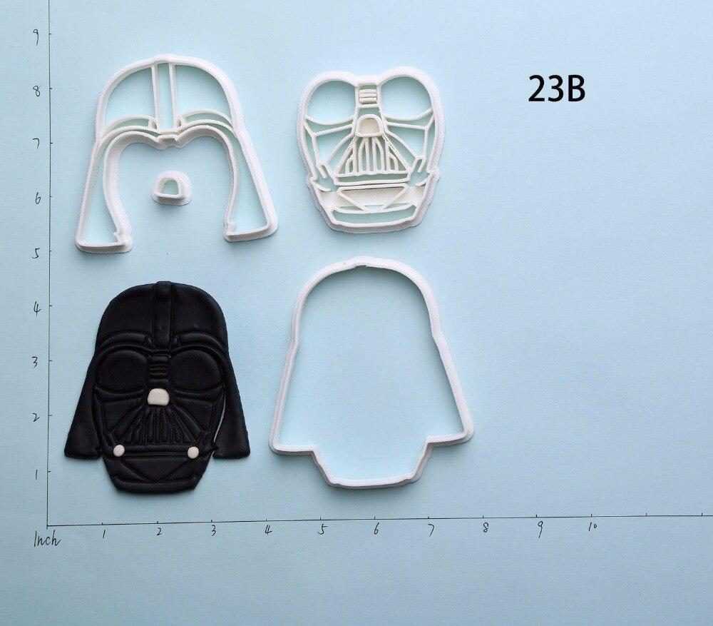 Famous Film Star Wars Cookie Cutter Set Custom Made 3D Printed Fondant Cupcake Cutter Cake Decorating Tools For Cookie Cutter in Cookie Tools from Home Garden