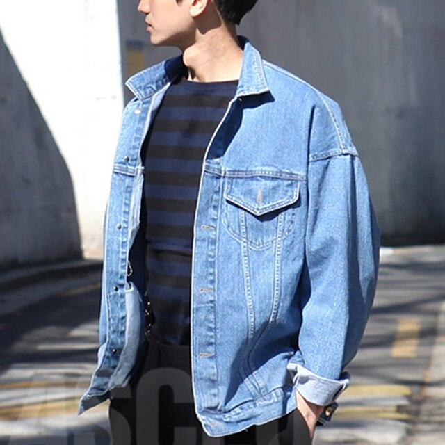 Мужская Осень зима Старинные Джинсовые Куртки Пальто Плюс Размер Моды для мужчин Свободные Куртки Верхняя Одежда clothing мужчины панк джинсовая куртка