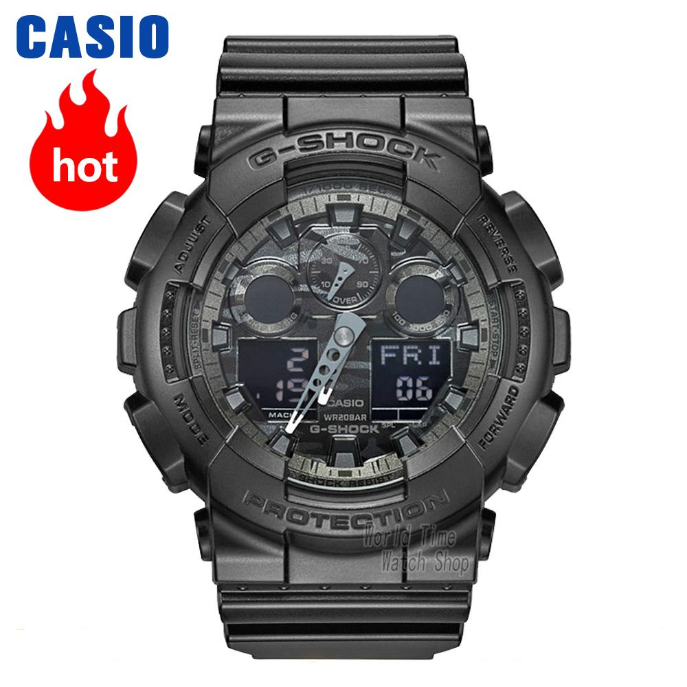 Casio watch Fashion camouflage waterproof resin sports men watch GA-100CF-1A GA-100CF-8A GA-100CB-1A GA-100C-8A GA-100CF-1A9 casio g shock g classic ga 110mb 1a