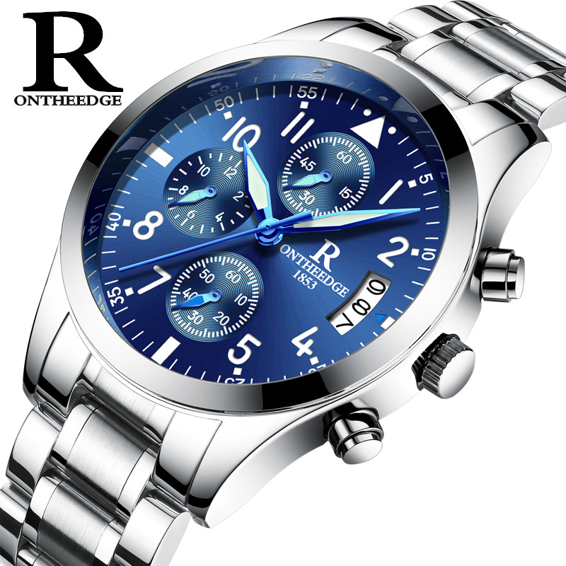 relogio masculino Mens Watches Top Brand Business Quartz Watch Men Sport Full Steel Waterproof Wrist Complete Calendar new fashion men business quartz watches top brand luxury curren mens wrist watch full steel man square watch male clocks relogio