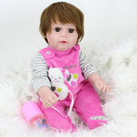 NPKDOLL Reborn Baby Doll 17inch Full Vinyl Silicone inteiro GIRL infant baby doll Bath Toys Kids Playmate Cute Bebes Reborn
