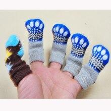 Новинка,, милые модные носки для домашних животных, носки для собак, 4 шт., милые вязаные носки для щенков, нескользящие носки, высокое качество,@ 4