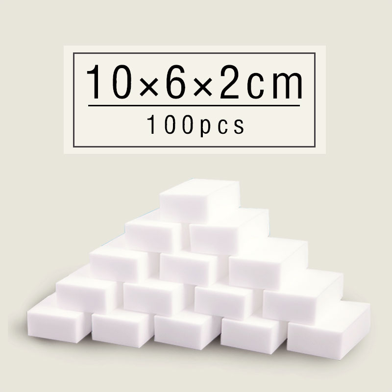 Melamine Sponge 100Pcs Magic Super Clean White Sponge Eraser Banheiro Kitchen <font><b>Cleaning</b></font> Pratos Nano Esponja 100*60*20MM