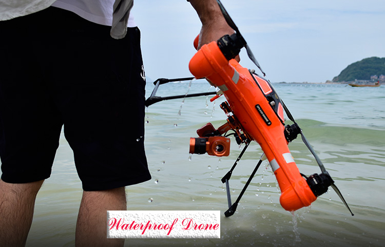 Splash Drone 3 Auto drone quadcopter Waterproof with 4K Camera and Monitor and 1 / 2.3 inch CMOS , effective pixels 1400W