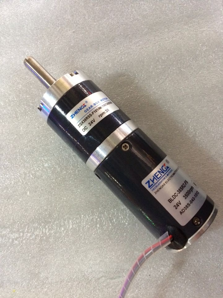 brushless planetary gear motor 38mmZGX38RSS reduction ratio(1:2141-3125) 12V 24V high quality 5n m 42 42 119 7mm brushless dc motor with planetary gearbox reduction ratio 104 8