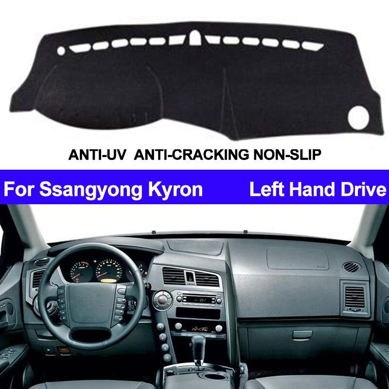 รถแดชบอร์ดฝาครอบ Dashmat สำหรับ Ssangyong Kyron ภายในอัตโนมัติ Sun Shade Dash Mat Carpe รถจัดแต่งทรงผม Anti - sun