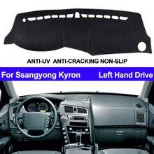 Araba Dashboard kapak Dashmat Ssangyong Kyron için otomatik iç güneş gölge Dash kurulu Mat kapak Pad Carpe araba Styling Anti Güneş