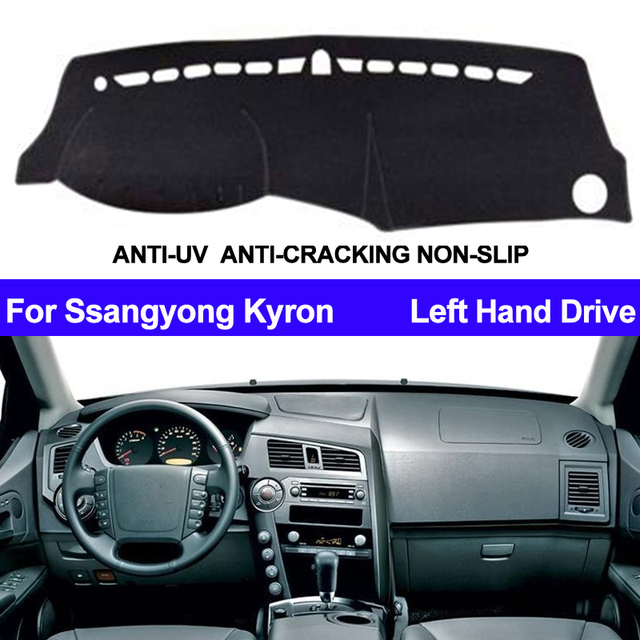 רכב לוח מחוונים כיסוי Dashmat עבור סאנגיונג Kyron אוטומטי פנימי שמש צל דאש לוח מחצלת כיסוי כרית Carpe רכב סטיילינג אנטי שמש