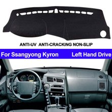 รถแดชบอร์ดฝาครอบDashmatสำหรับSsangyong KyronภายในอัตโนมัติSun Shade Dash Mat Carpeรถจัดแต่งทรงผมAnti Sun
