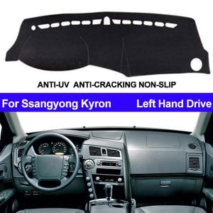 Image 1 - รถแดชบอร์ดฝาครอบDashmatสำหรับSsangyong KyronภายในอัตโนมัติSun Shade Dash Mat Carpeรถจัดแต่งทรงผมAnti Sun
