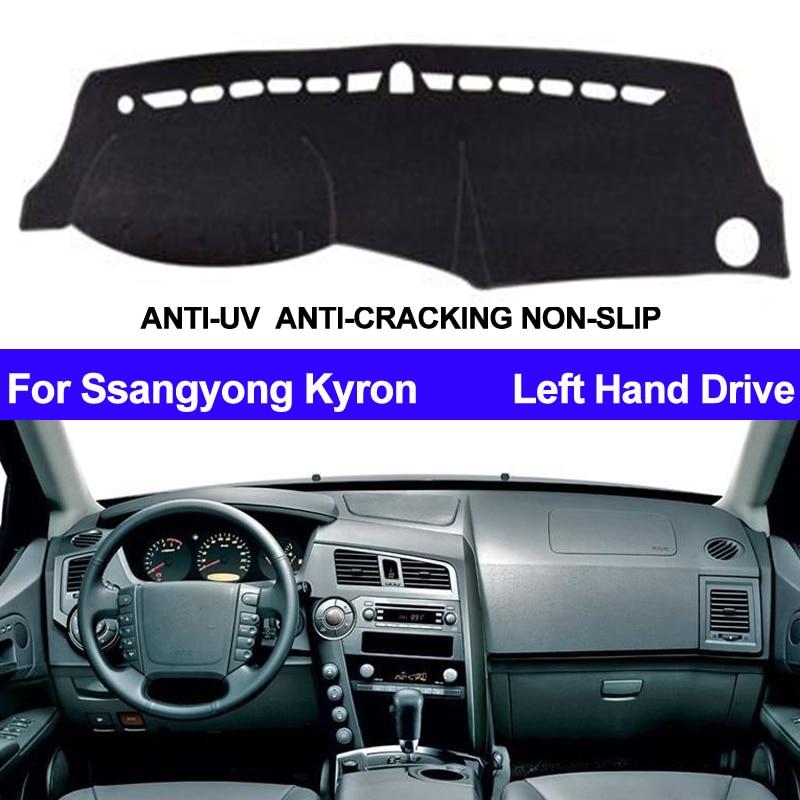 Pokrywa deski rozdzielczej samochodu Dashmat dla Ssangyong Kyron Auto wewnętrzna parasol przeciwsłoneczny deska rozdzielcza mata pokrywa Pad Carpe Car Styling anti-słońce
